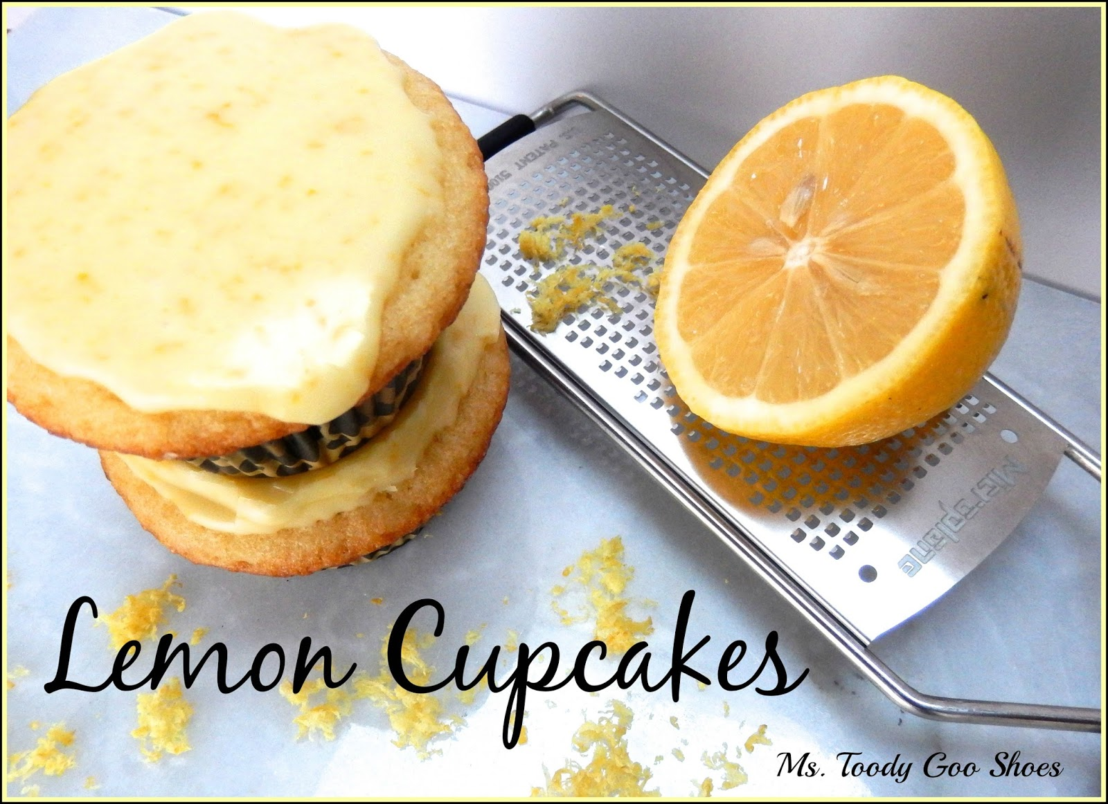 Lemon Cupcakes from Flat Belly Diet Cookbook- Ms. Toody Goo Shoes #FlatBellyCookbook