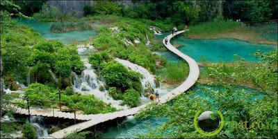 Jalan Kecil Danau Plitvice, Kroasia