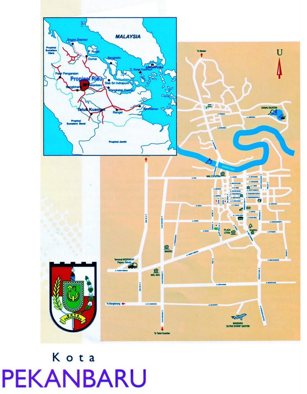 Pekanbaru Indonesia  City pictures : TAKJUB INDONESIA: Peta Kota Pekanbaru