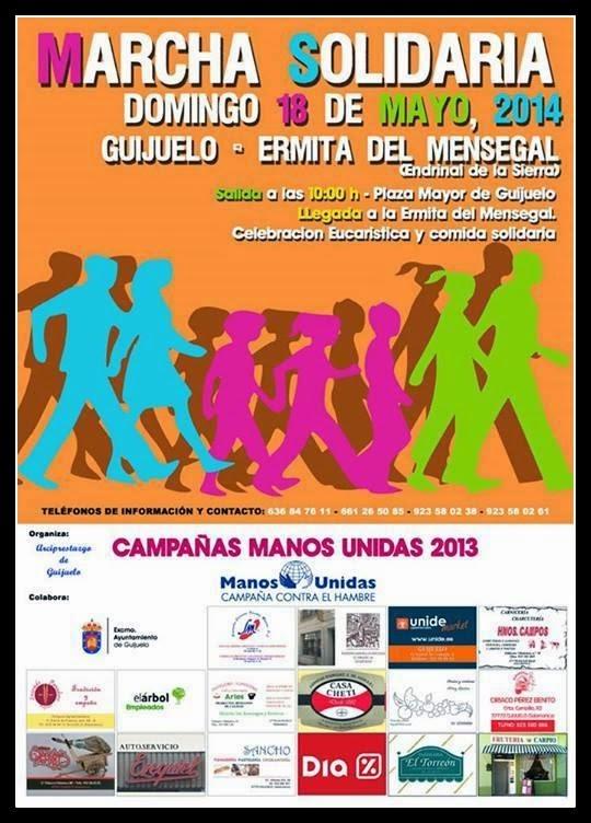 18/mayo. Marcha Solidaria Entresiserrras. Guijuelo