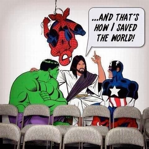 Marvel Comics Signs Jesus Superhero - And that's how I saved the world, Hulk, Spiderman and Captain America