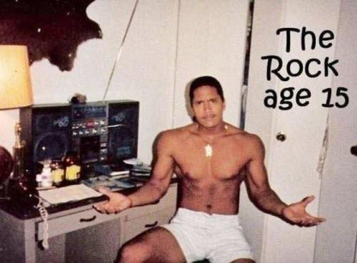 The Rock, Dwayne Johnson, cuando sólo era rockita
