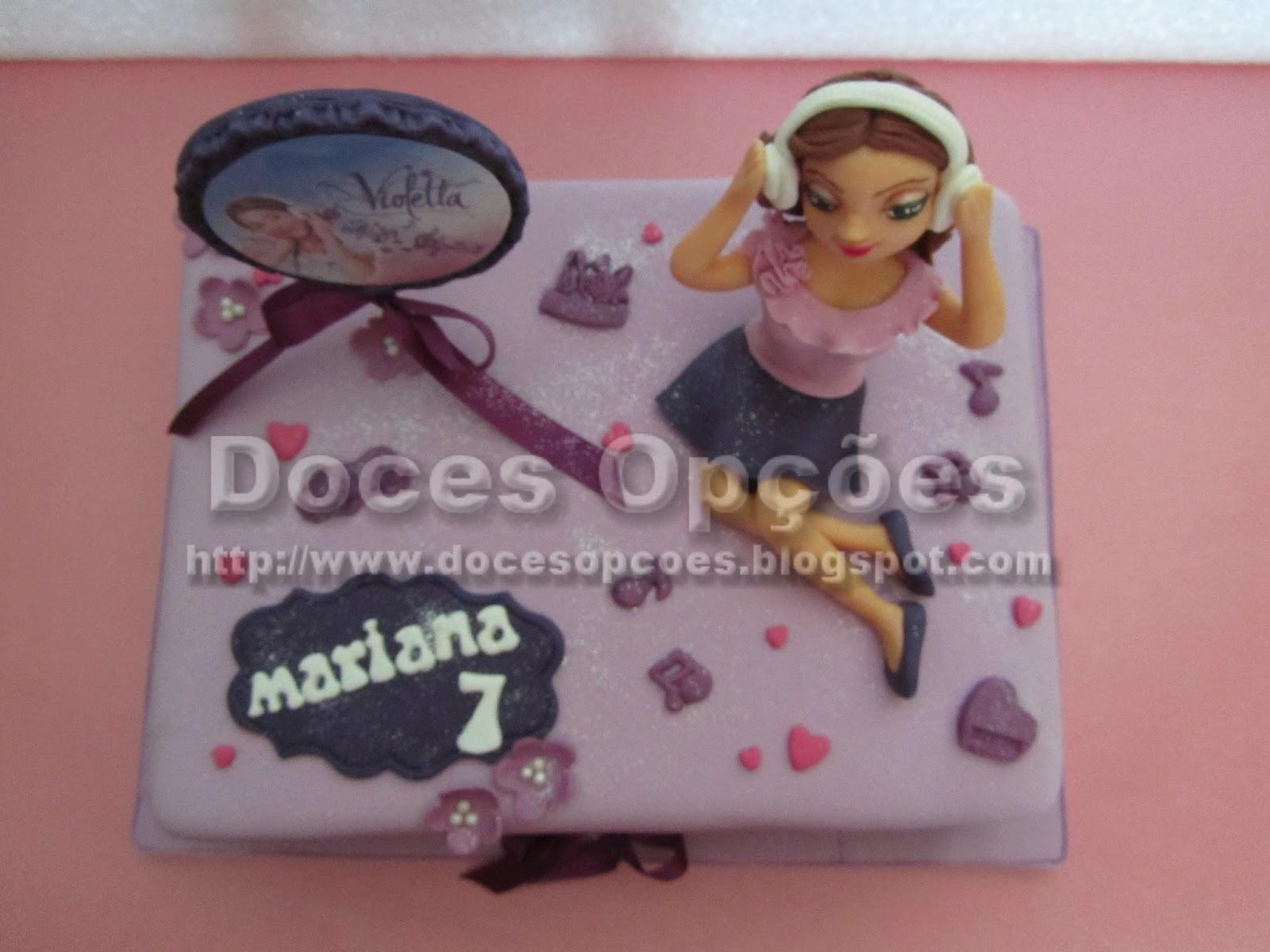 bolo aniversário decorado violetta bragança
