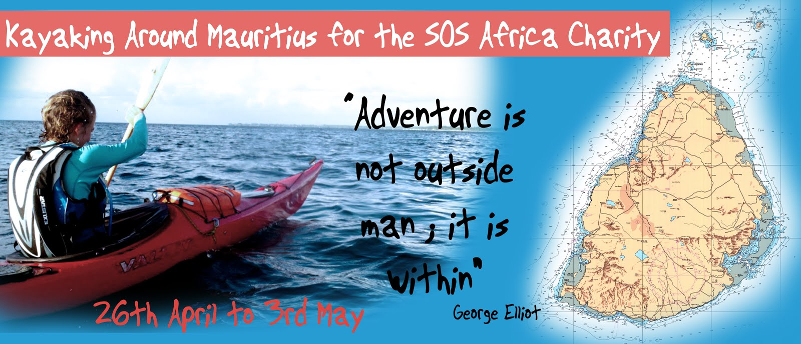 Kayaking Around Mauritius for SOS Africa Charity