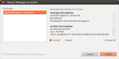 install Android Support Package