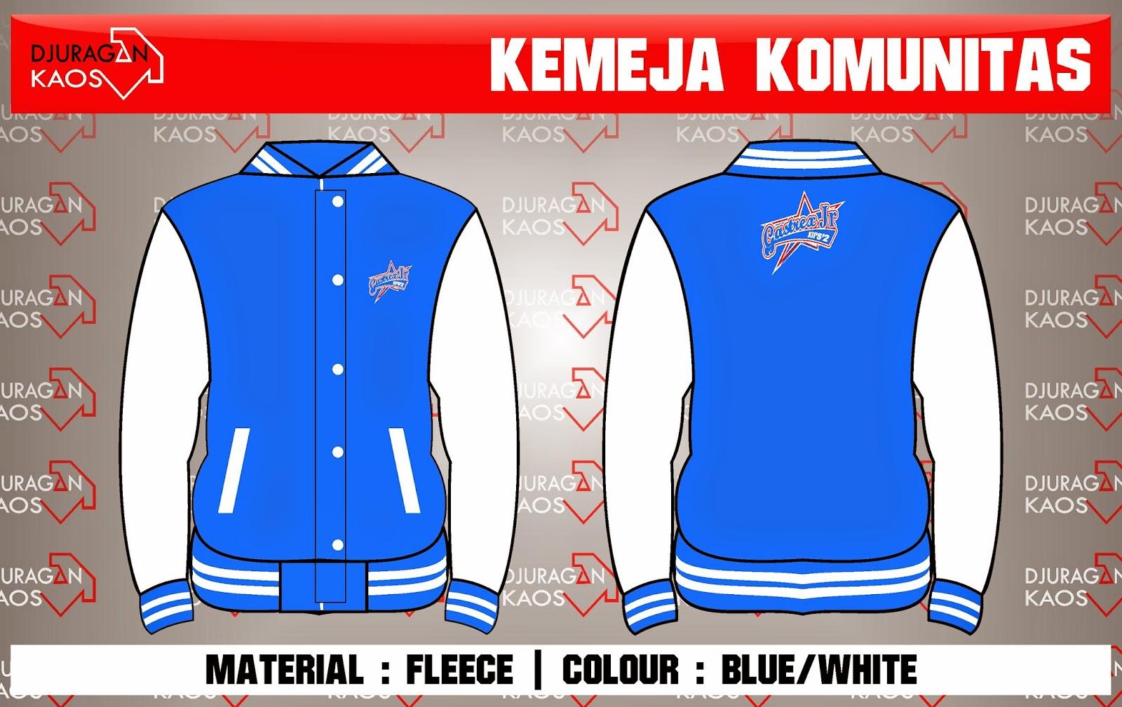 Accecories Design Order By Type Jaket Material Fleece Colour Blue White Quantity Pcs Diposting Djuragan Kaos