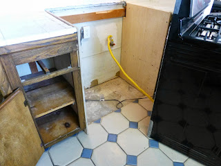 close up of kitchen remodel in progress