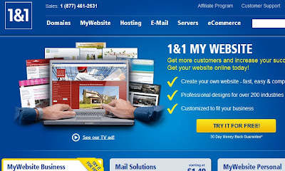 1and1 homepage