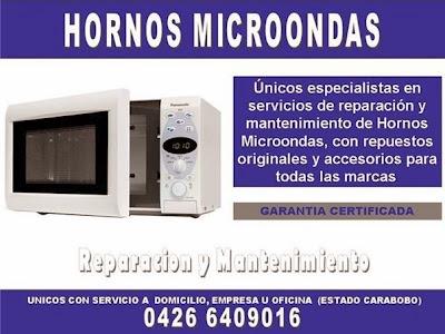HORNOS MICROONDAS REPARACION Y SERVICIOS