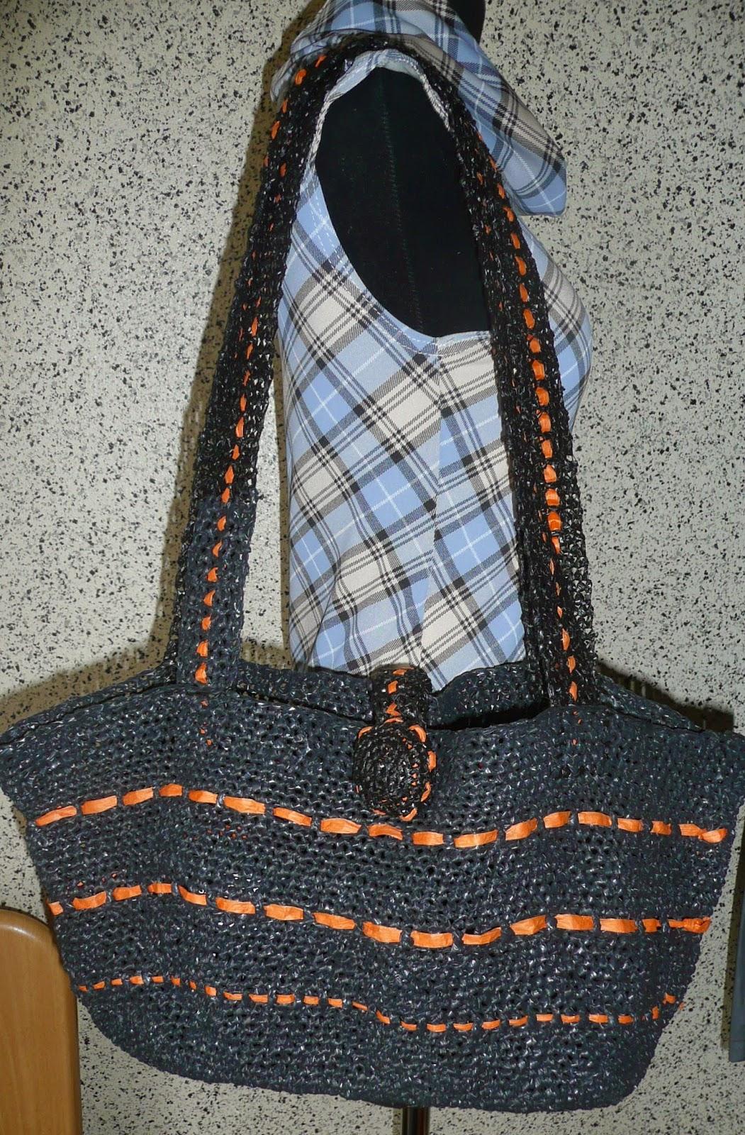 cauty bricole crochet sac recyclage sacs plastique. Black Bedroom Furniture Sets. Home Design Ideas