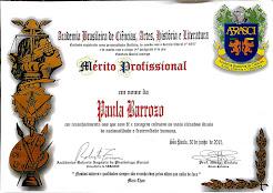 PAULA BARROZO - ABRASCI - Diploma Mérito Profissional