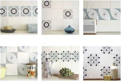 Sabri decoradora decora el ba o con vinilos autoadhesivos - Azulejos adhesivos bano ...