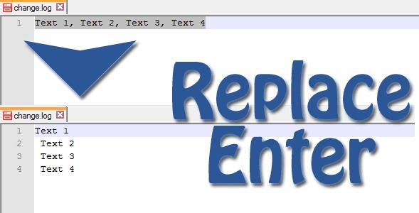 Cara Replace Text atau Tanda Baca Dengan Enter