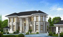 Classic Luxury style 2 Story Home Plans for construction in thai