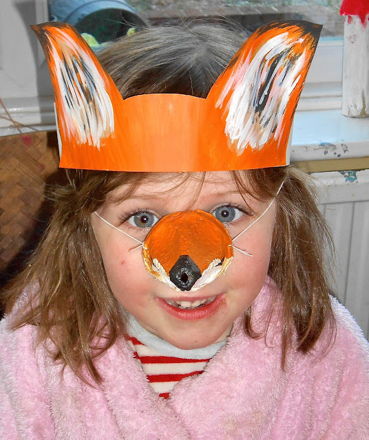 crafting with children - fox head