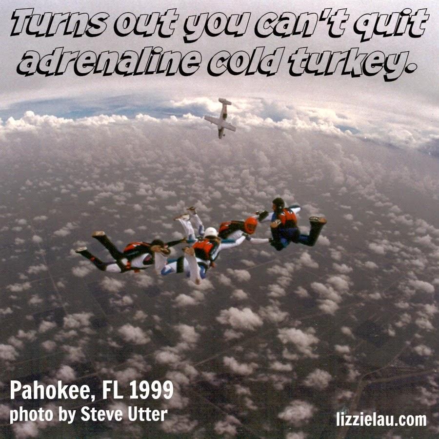 Lizzie Lau skydiving