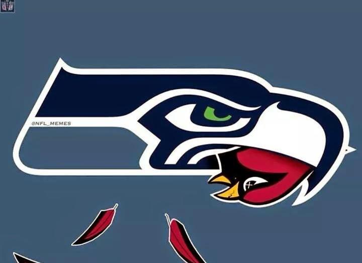 seahawks carrying in its beak Cardinals.