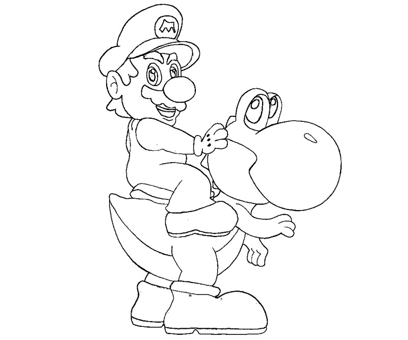 Random Yoshi Coloring Pages title=