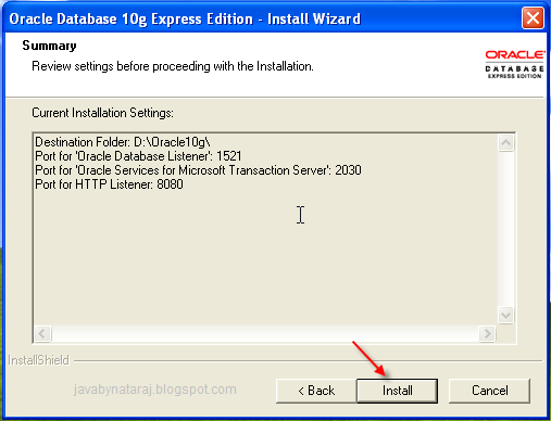 Installing Oracle Database 10g Express Edition_009