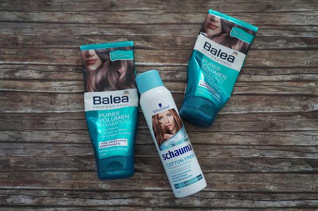 Balea Professional - Pures Volumen Shampoo und Spülung, Schauma - Cotton Fresh Trockenshampoo