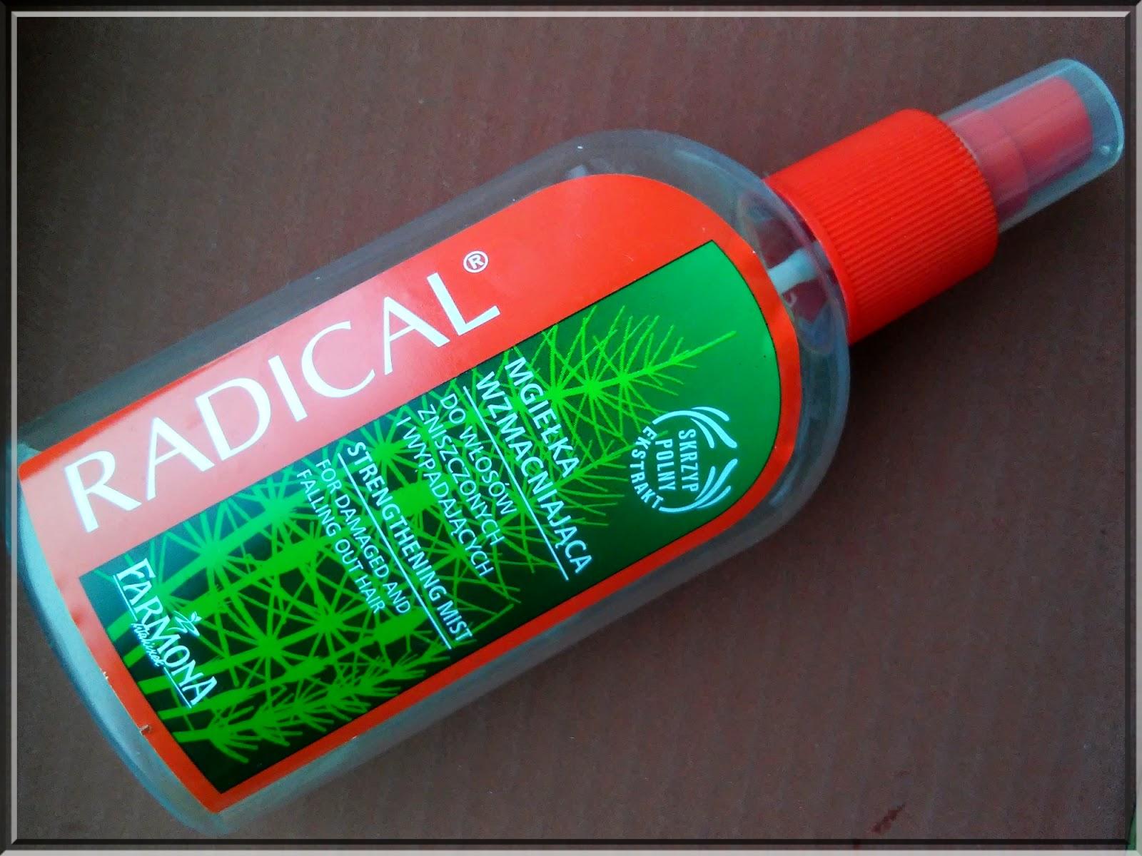 Radical, Mgiełka wzmacniająca do włosów zniszczonych i wypadających