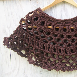 Dark Chocolate Lace Cape