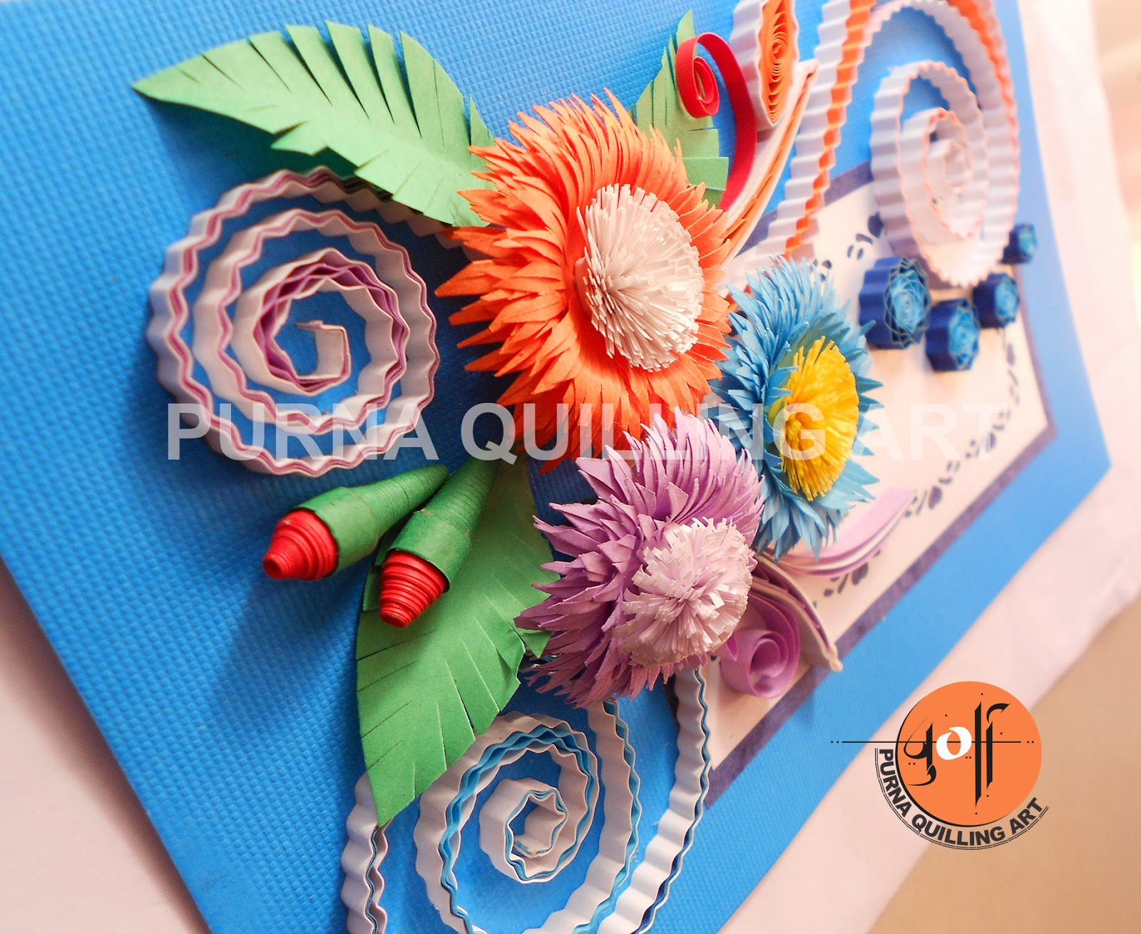 Purna quilling paper art quilling greeting card flower combination quilling greeting card flower combination oct 2013 m4hsunfo