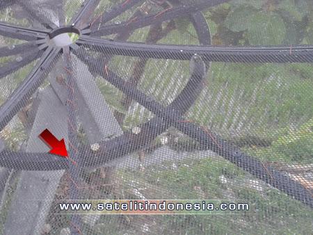 cara memperkuat sinyal parabola jaring