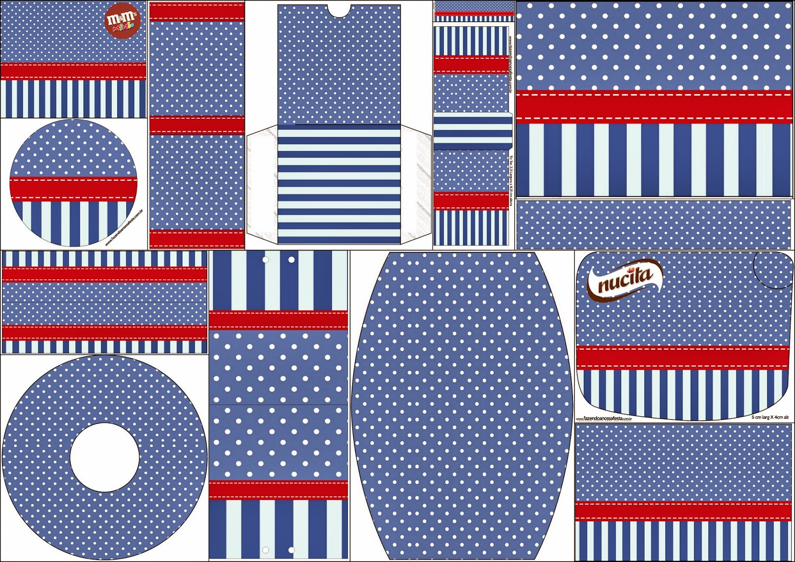 Blue Stripes and White Polka Dots: Free Printable Candy Bar Labels.