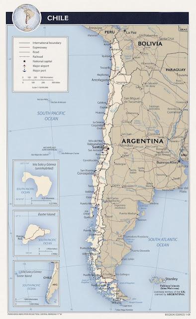 Mapa carretero de chile