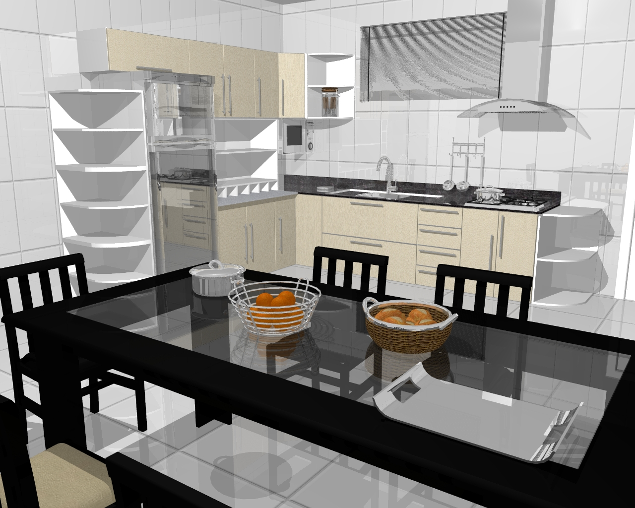 3DANILO Maquetes Eletrônicas 3D: COZINHAS PLANEJADAS #7B4919 1280 1024