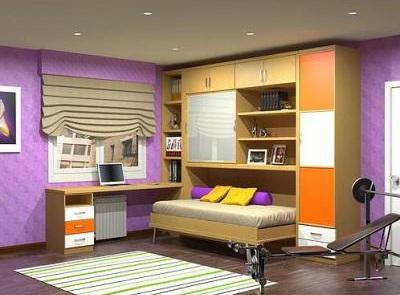 Closets para ni os y ni as decoraciones cocinas for Closet con espacio para tv