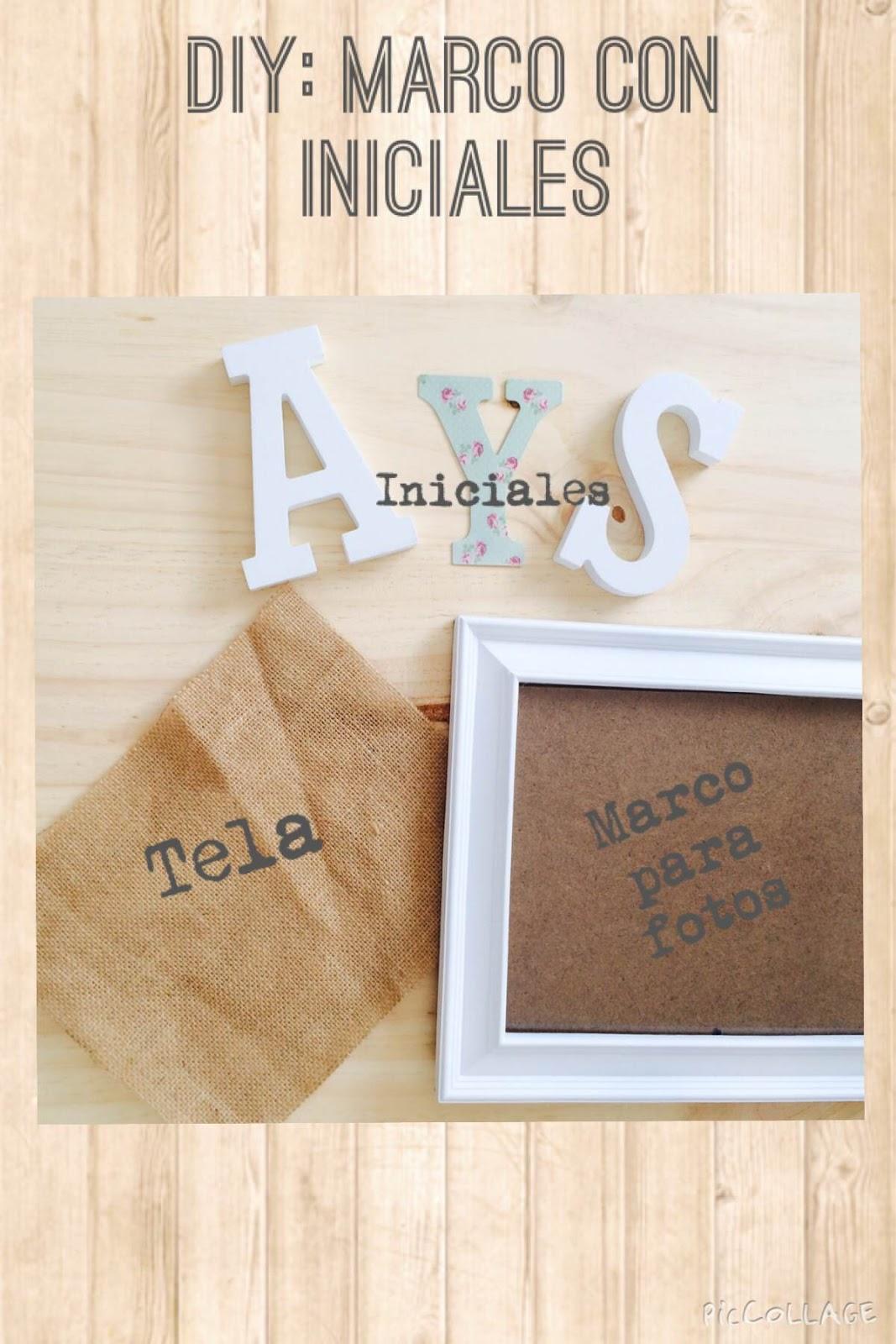 visilovesnina: DIY: Marco con iniciales