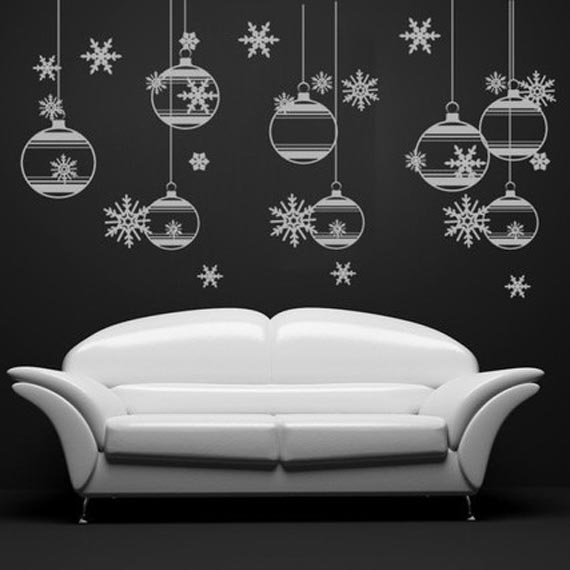 Christmas tree wall stickers luxury lifestyle design architecture blog by ligia emilia fiedler - Christmas wall decorations ...