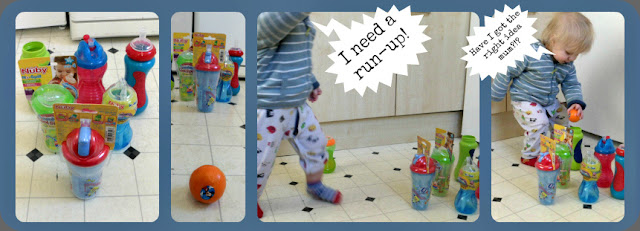 toddler activities beaker bowling