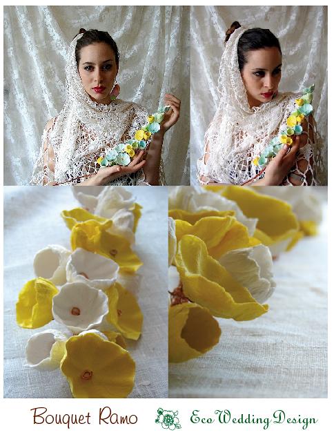 modello ramo, bouquet di carta
