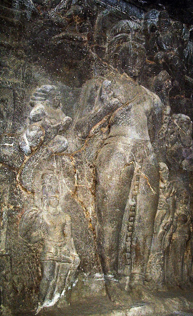 ellora female fresco