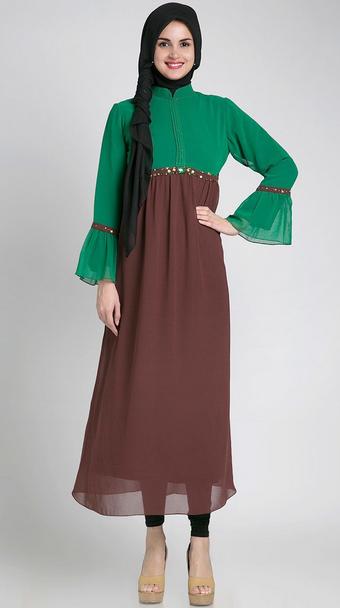 model baju muslim hamil, model baju hamil trendy