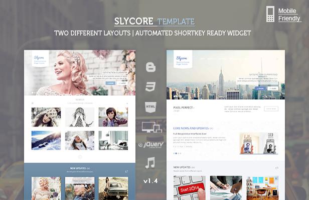 Best Premium Blogger Templates: Slycore responsive Flatstrap Blogger ...