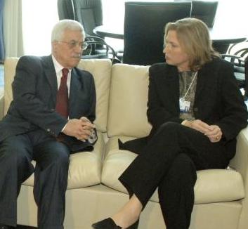 tzipi livni mahmoud abbas Israel PA meeting