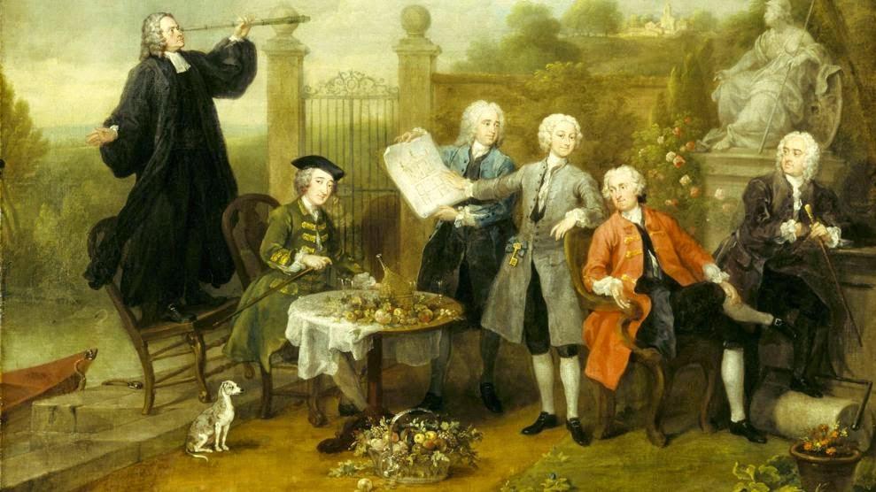 William Hogarth, Ritratto di gruppo con Lord John Hervey, circa 1738-1740