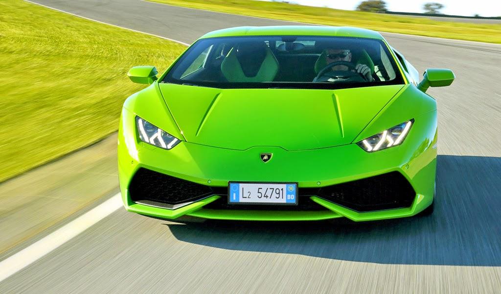 2015 Lamborghini Huracan Green LP 610-4 Wallpaper