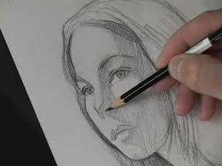 الرسم علي الورق