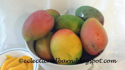 Eclectic Red Barn: Harvested Mangoes