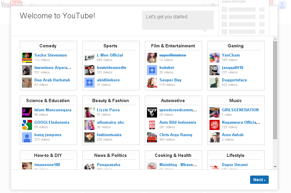 cara membuat akun youtube 1