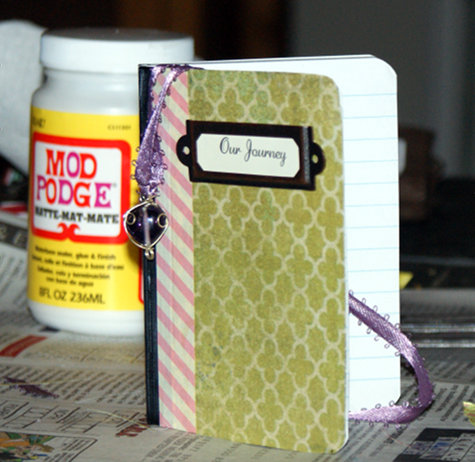 DIY Decoupage and Washi Tape Journal