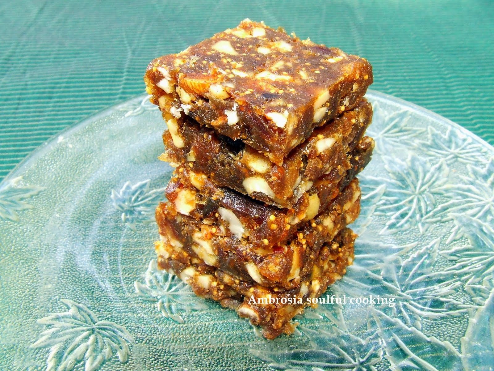 Dates and Figs burfi (Sugar free)