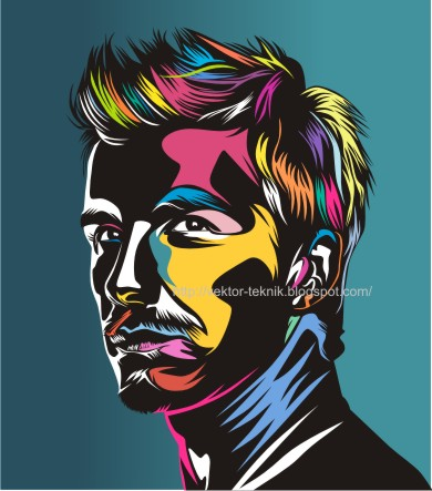 vector foto-david beckham-pop art-tutorial