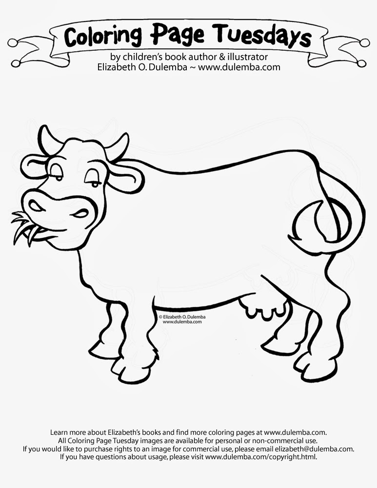 Cow Pictures To Color Cow On Farm Coloring
