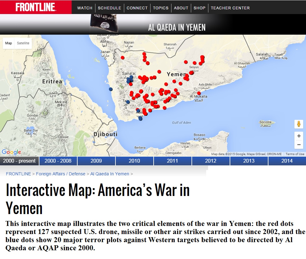 the map of drone strikes in yemen shows that most of the u s killings of yemenis have occurred in south yemen south yemen was aligned with the soviet